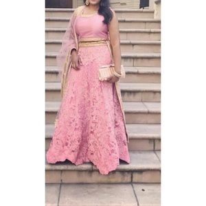 Baby pink lehenga Indian outfit
